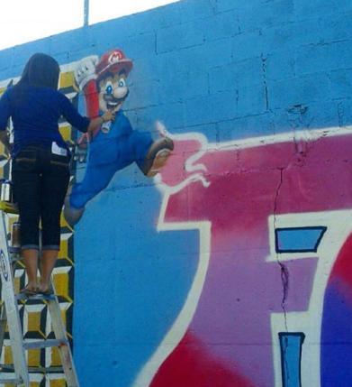 In Progress Mural by Lisa Gray